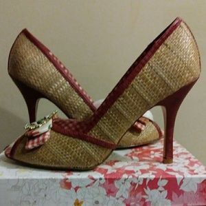 Chinese Laundry Red Peep Toe Heel